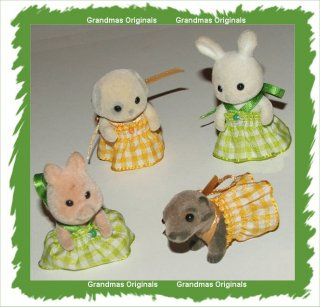 baby dresses green + yellow