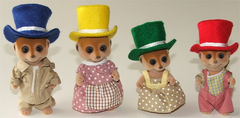 Thinking hats for Sylvanian Families