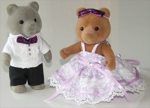 Dress suit & ballgown for large bears