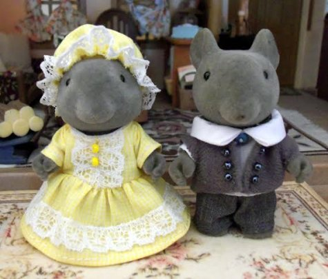 Victorian Vintage FF Mice Children