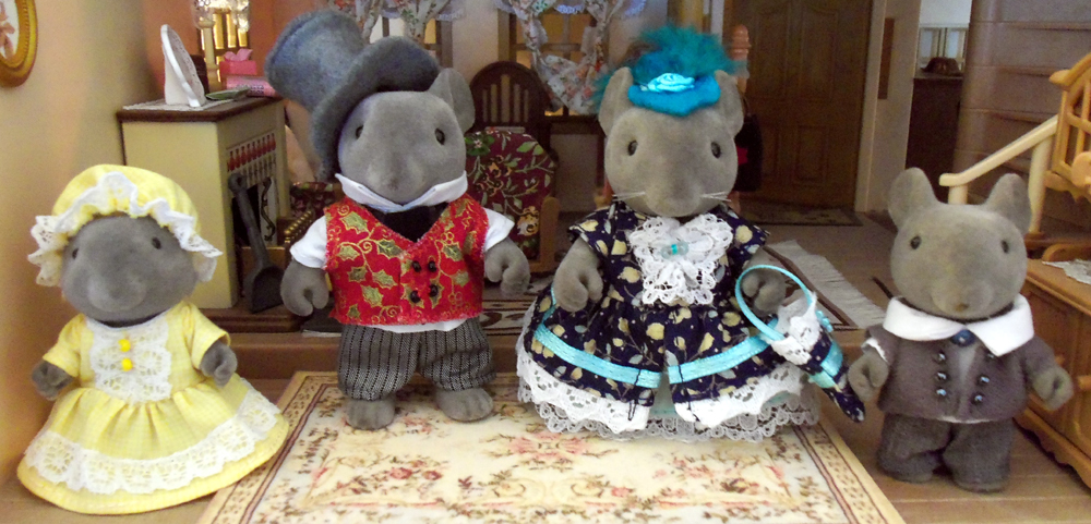 Victorian Vintage FF Mouse Family
