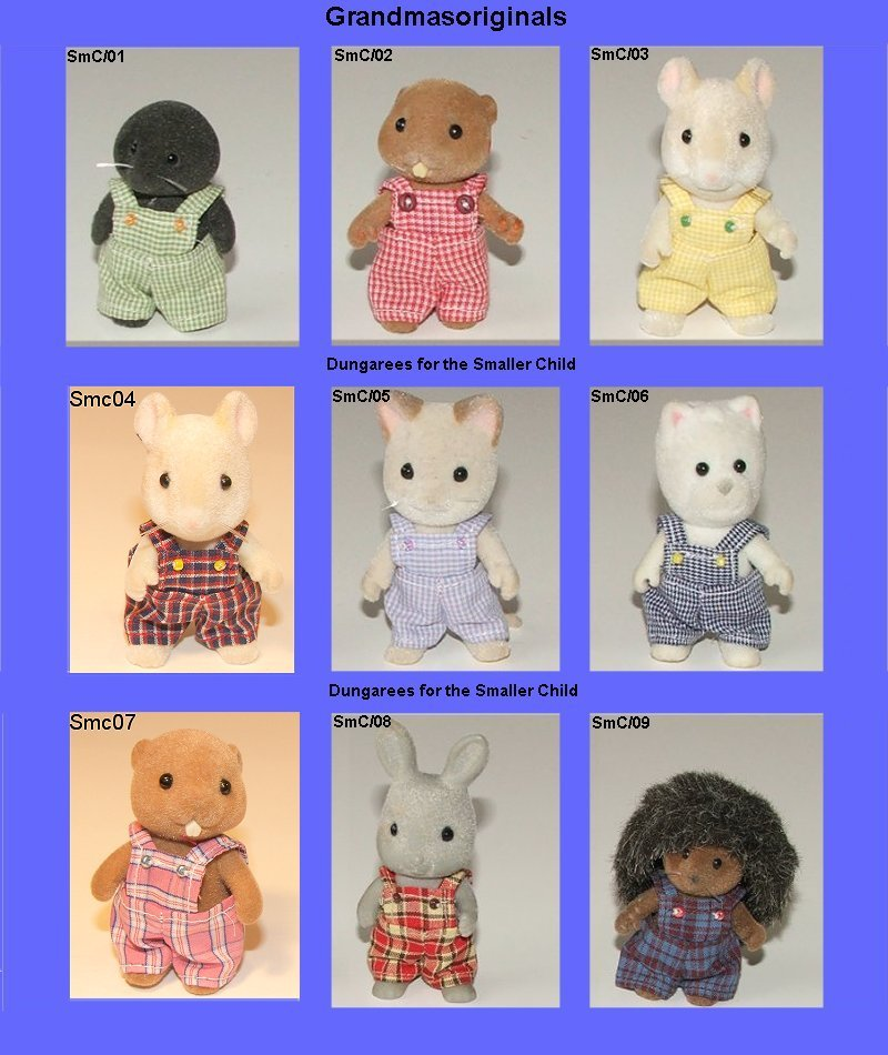 selection of 9 dungarees for smaller boy