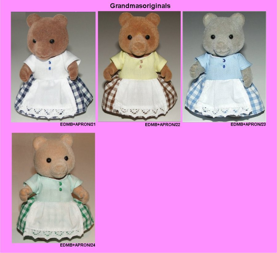 dress + apron for large bear mum