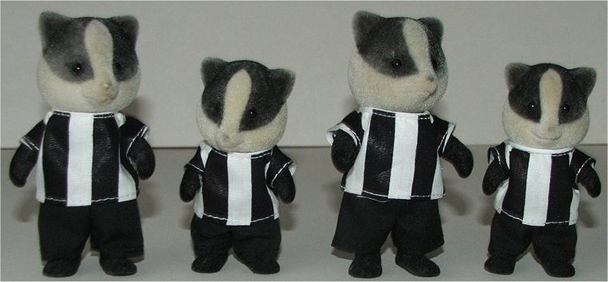 Football outfits black and white stripe