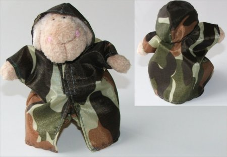 Army Camouflage outfit - sheep keyring