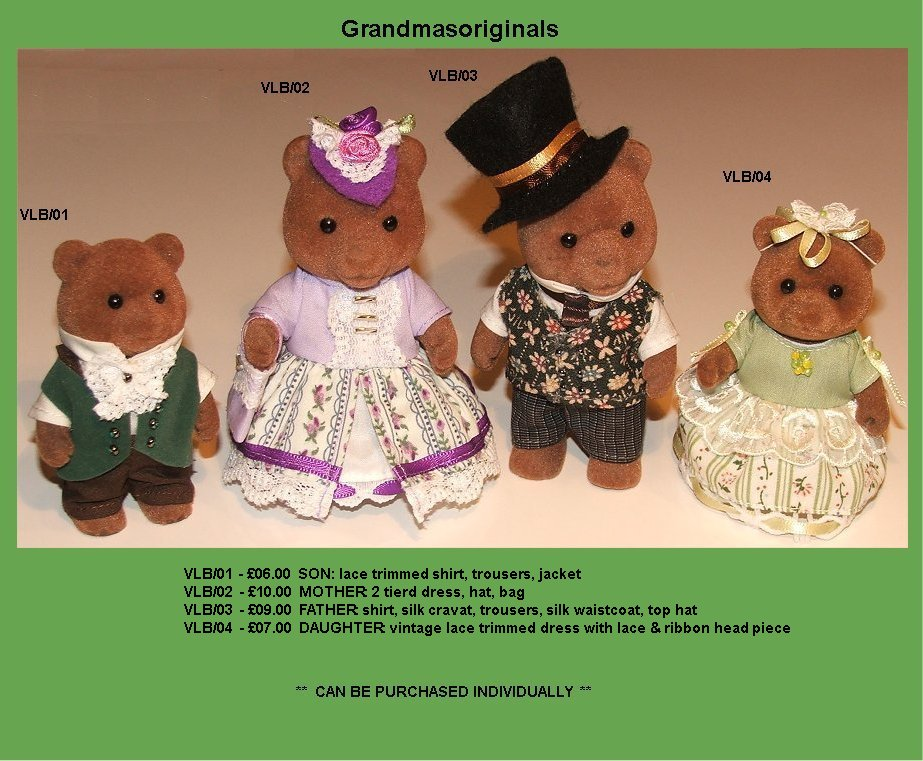 Victorian family outfits set - 1