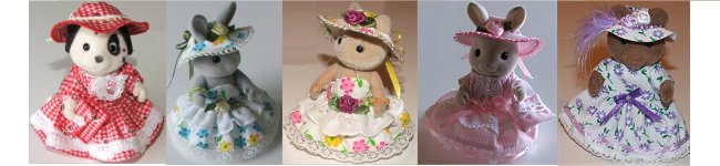 Summer dresses for Mum with hats and bags